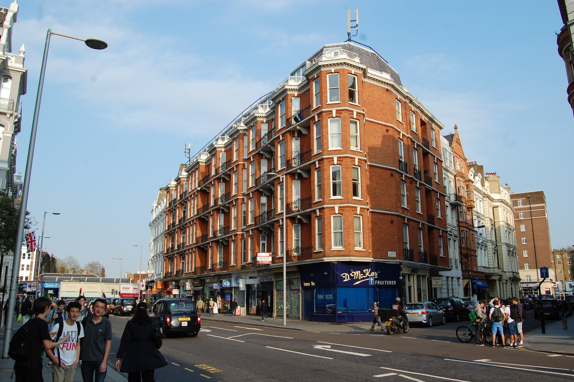 Harrington Road, SW7 lease plans – site photo