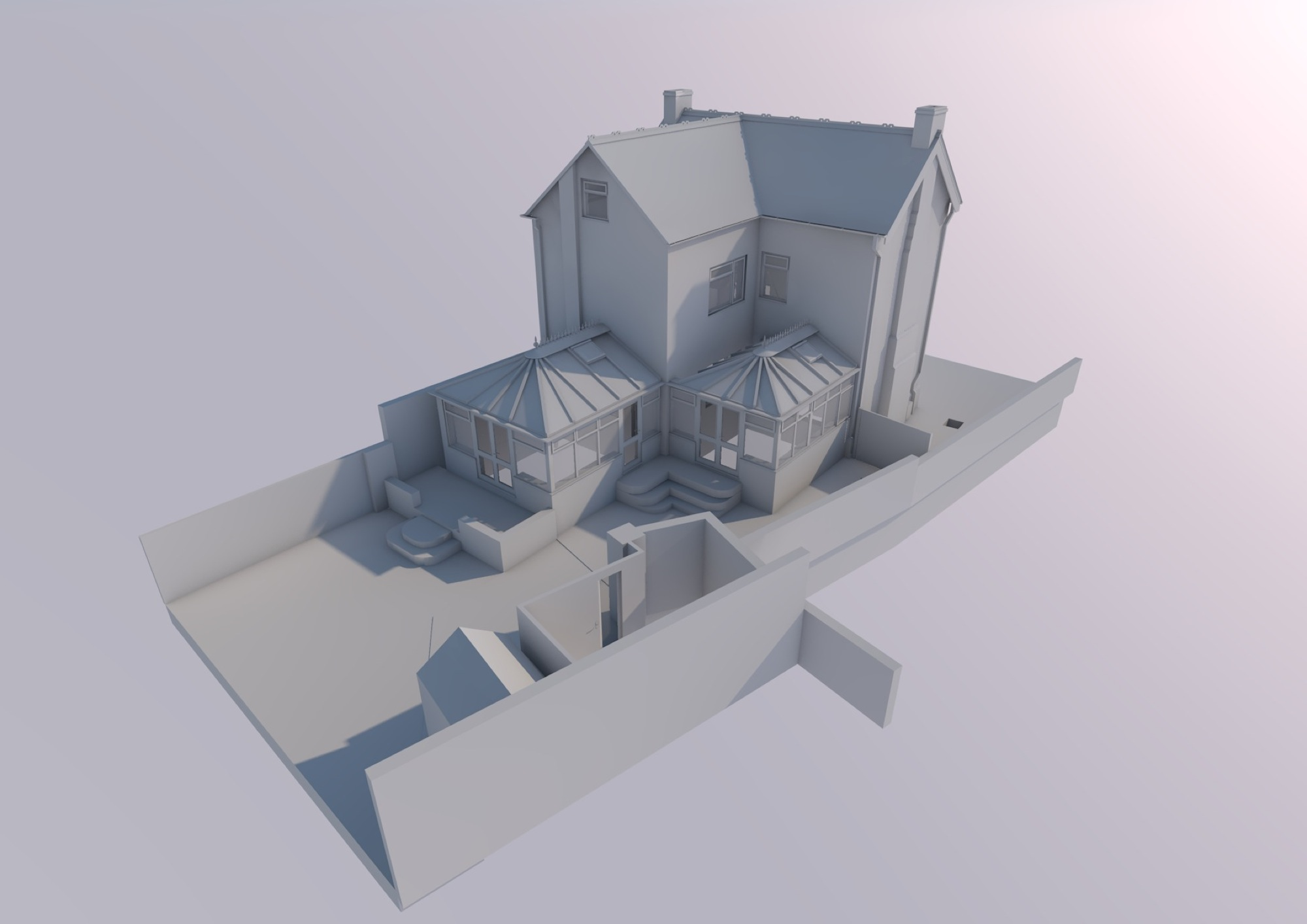 Stonehouse-  measured building survey- white render