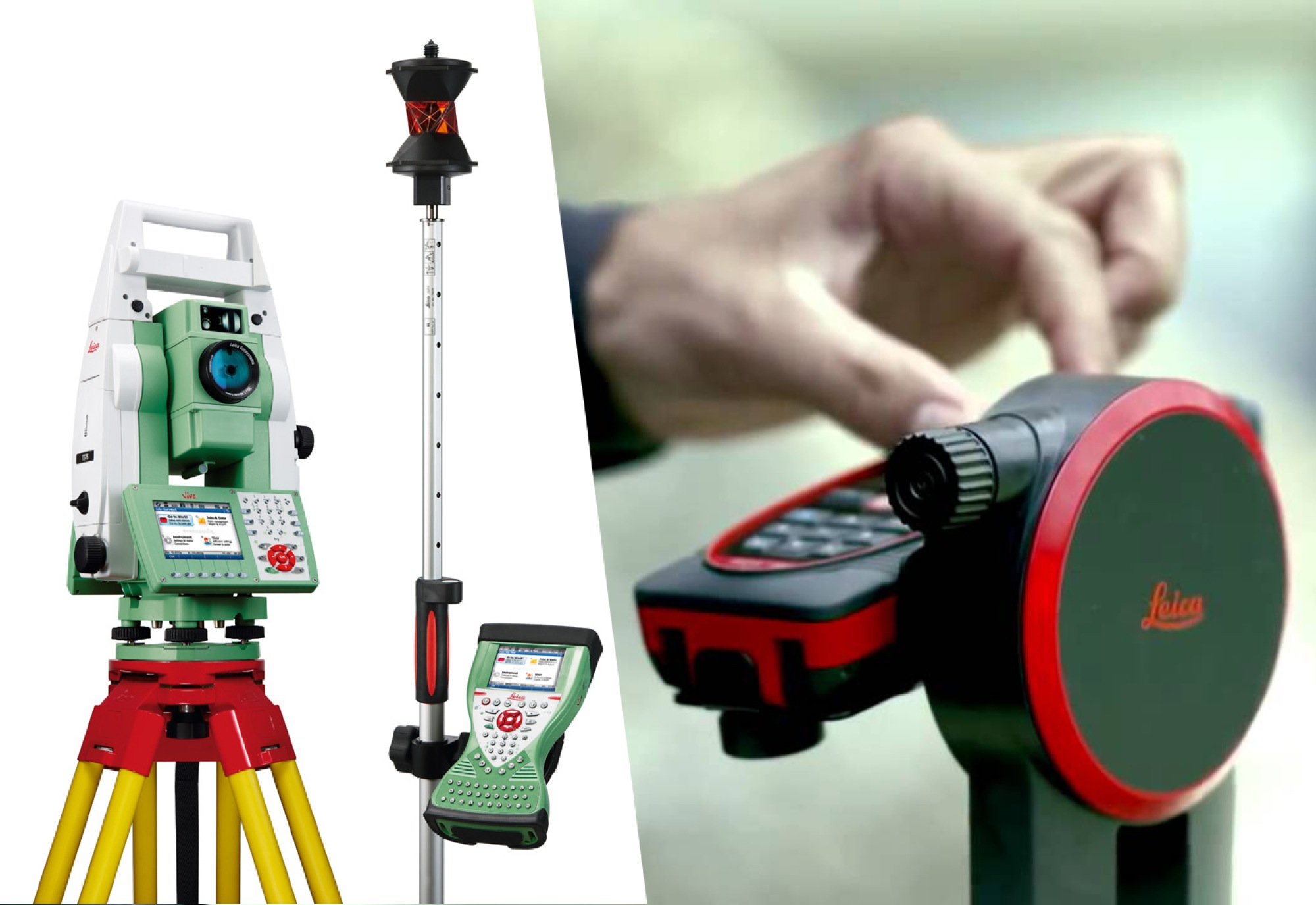 Leica ST15 totals station – D810 distance meter – surveying instruments