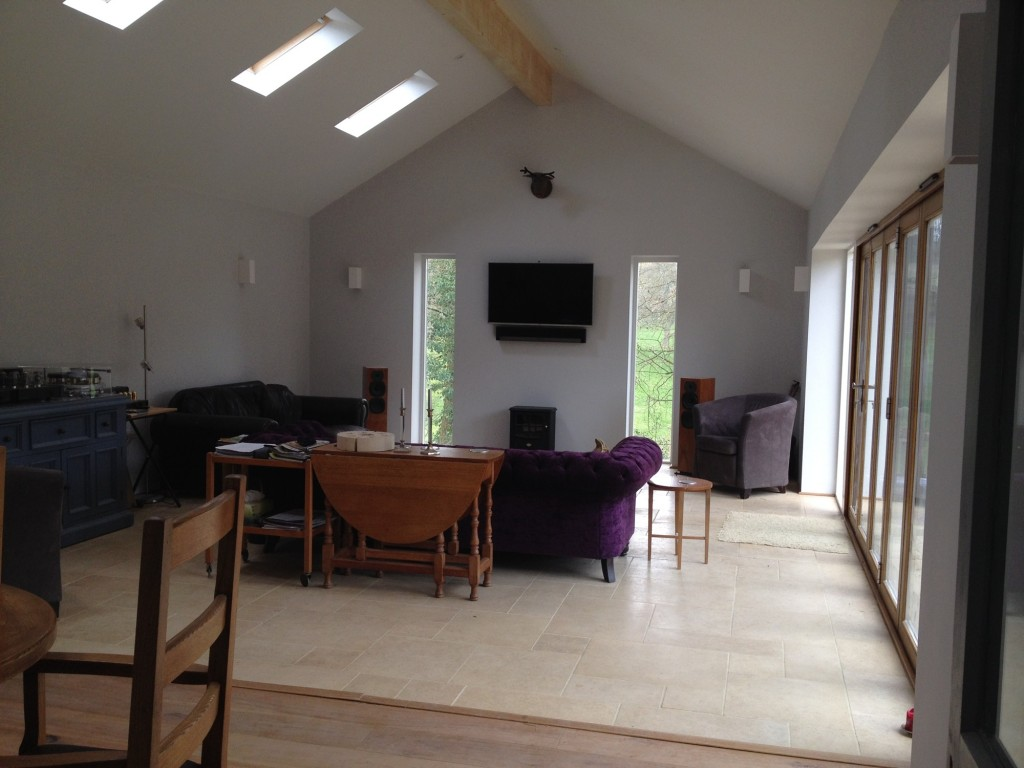 House extension – Internal view of finished project