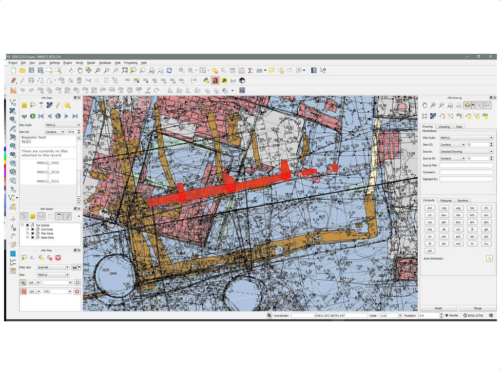 GIS analysis of complex stratigraphy