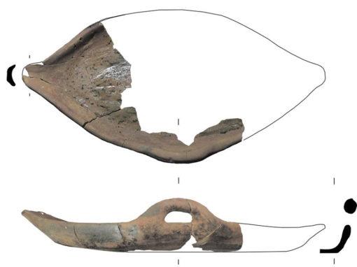 Medieval ceramic dripping dish